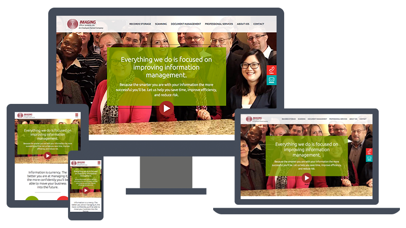 Imaging Office Systems new website design