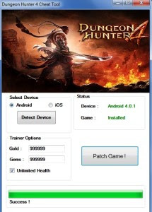 Dungeon Hunter 4 Cheats Hack Apk Android Download Free