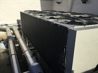 chiller protection using a RABScreen air intake screen at a datacentre.