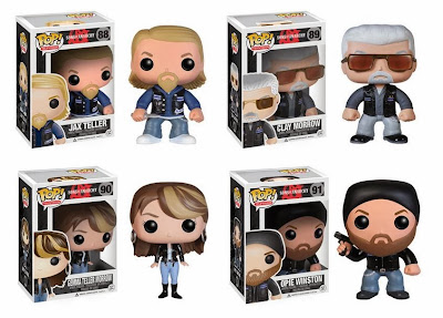 Sons of Anarchy Pop! TV Vinyl Figures by Funko - Jax Teller, Clay Morrow, Gemma Morrow & Opie Winston