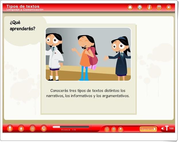"""Tipos de textos"" (Lengua Española de Educación Primaria)"