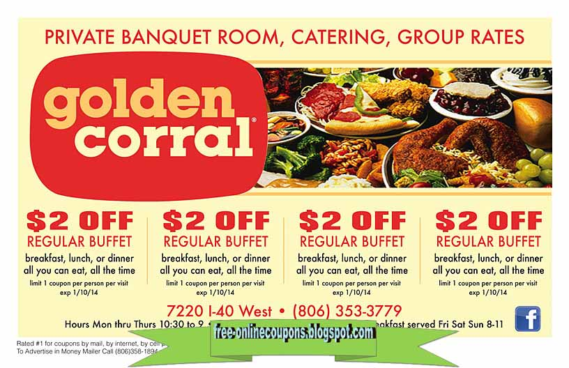 Printable golden corral discount coupons
