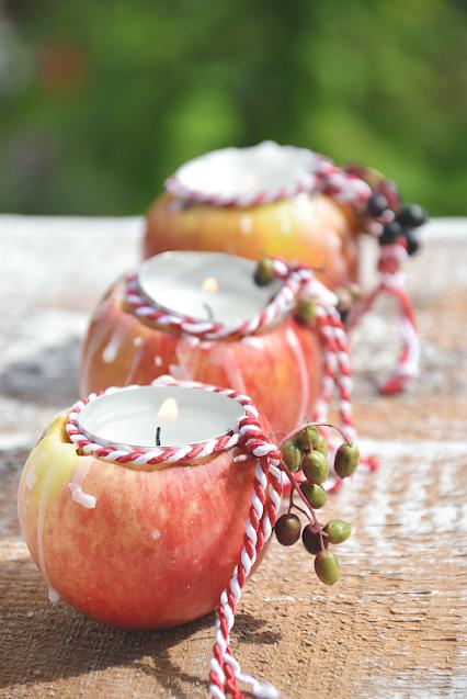 Apfeldeko für den Tisch