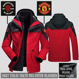 Jaket Gunung Hoodie Waterproof Taktis Manchester United