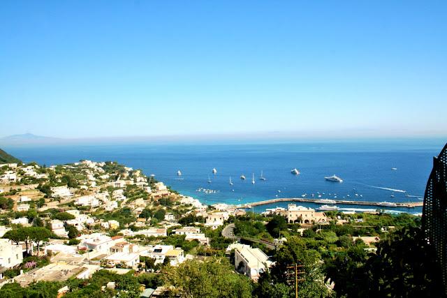 Capri, mare, acqua, isola, panorama, barche
