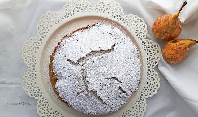 Torta di grano saraceno pere e cioccolato