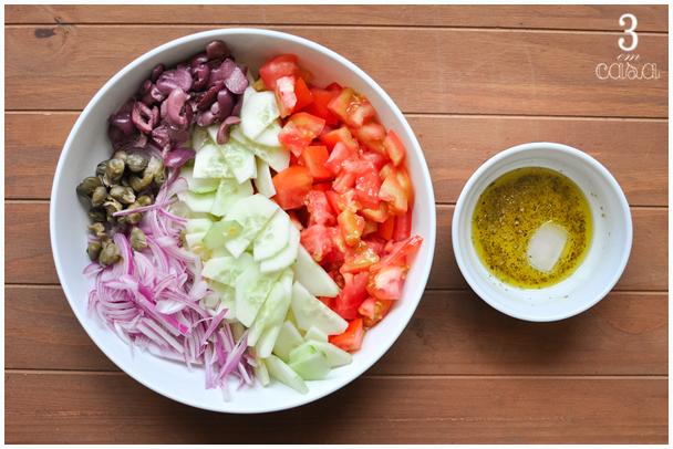 salada grega como fazer