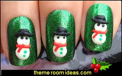 3d christmas snowman nail art handmade shapes nail decorations
