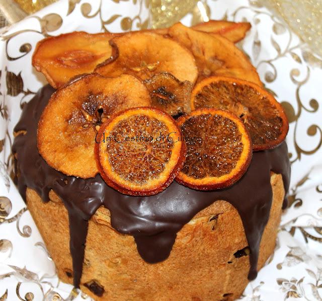 panettone farcito con crema all'arancia senza uova e latte