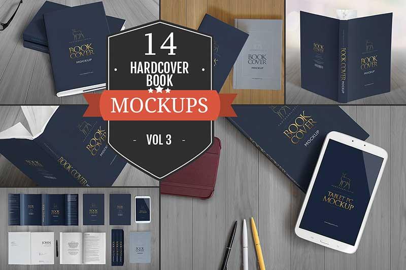 Elegant Hardcover Book Mockups