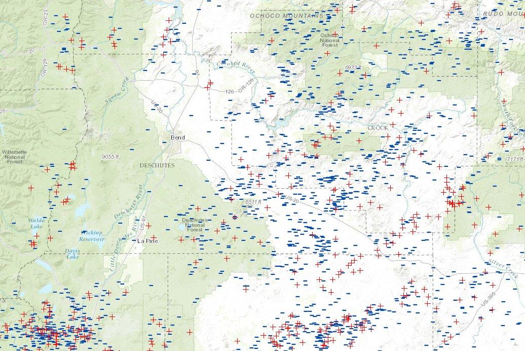 Central OR Fire Info Central Oregon Lightning Maps June 8