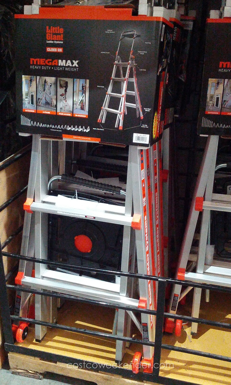 little giant ladder costco megamax m17 aluminum ladder costco weekender 10522