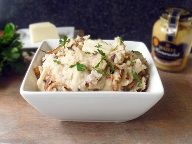 Caramelized Onion Smashed Potatoes | by Life Tastes Good #Easter #Horseradish