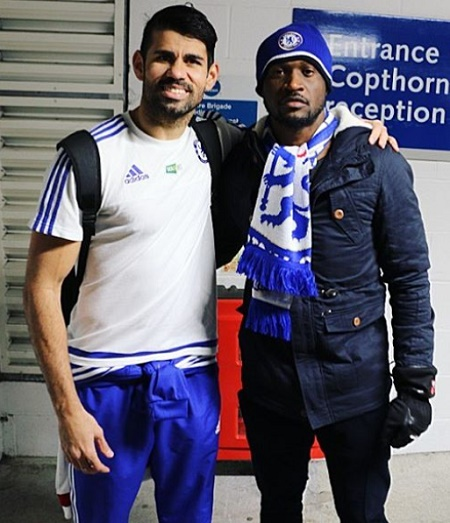 Photos: Check Out The Chelsea Football Club Stars Peter Okoye Met Yesterday