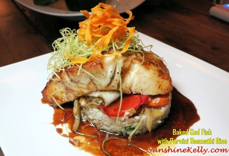 Baked Cod Fish with Basmathi Rice, Basmathi Rice Replacing Risotto, Fuzio Bar & Restaurant, KL, Jasmine Pusa Gold 1121 Basmathi Extra Long Rice, Jasmine Basmathi Rice, Pusa Gold 1121 Basmathi Rice, Italian cuisine, basmathi rice, basmathi rice dishes, rice,