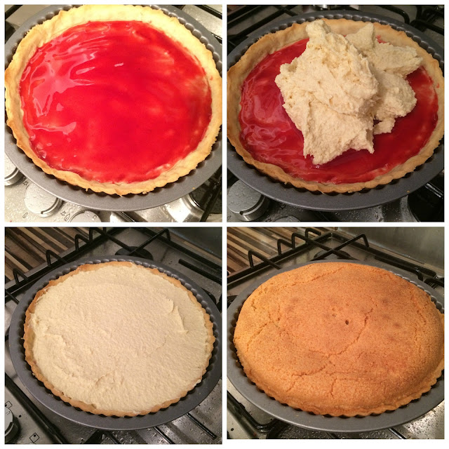 Photos of the steps for Baking the Tart