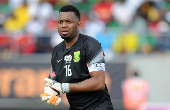 Itumeleng Khune has won widespread praise for his top class performance against Brazil.