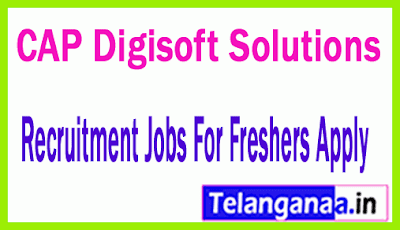 CAP Digisoft Solutions Recruitment Jobs For Freshers Apply