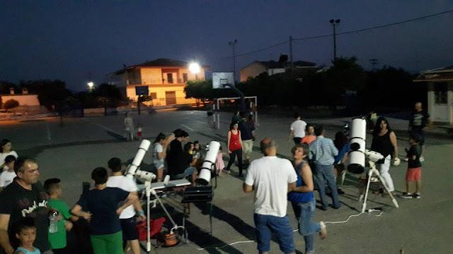 Βραδιά αστροπαρατήρησης στο Δημοτικό Σχολείο Αγίας Τριάδας