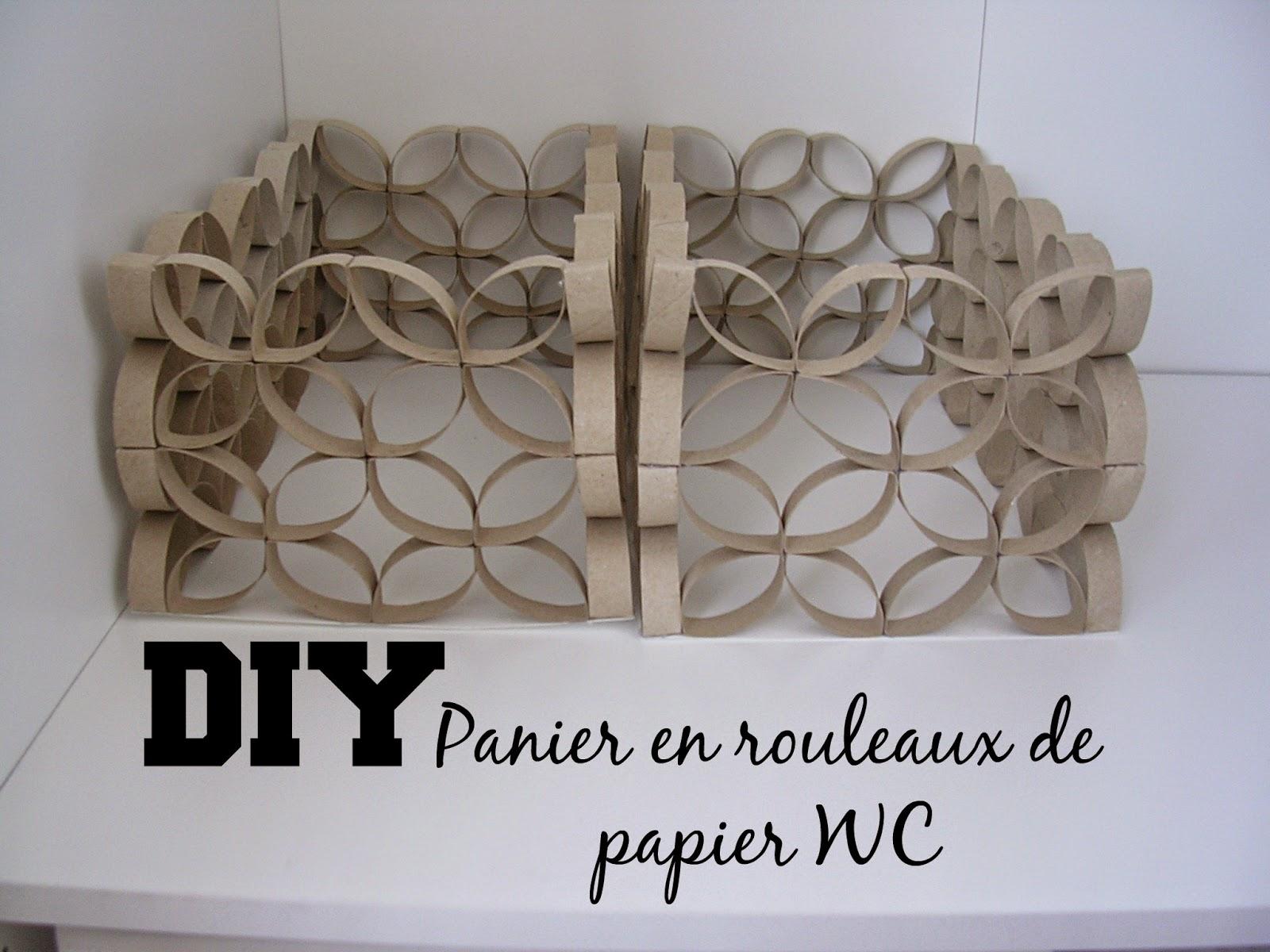 boucle d 39 aure diy panier en rouleaux de papier wc. Black Bedroom Furniture Sets. Home Design Ideas