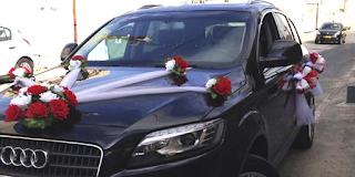 קישוט רכב לחתונה של ק'יו 7 לימו