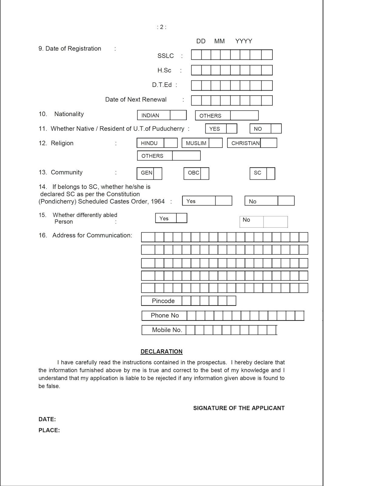 teaching job application form - Heart.impulsar.co