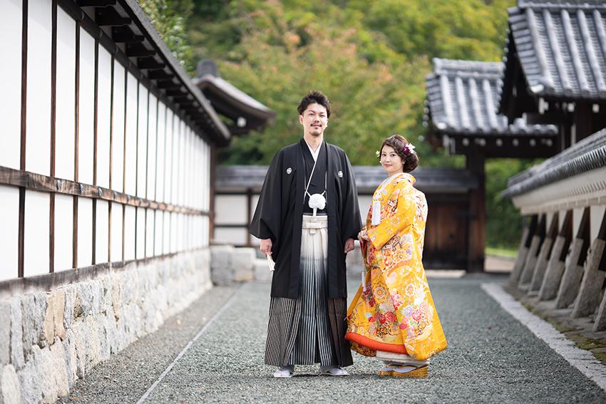 恋人の聖地。松山市二の丸庭園での前撮りです