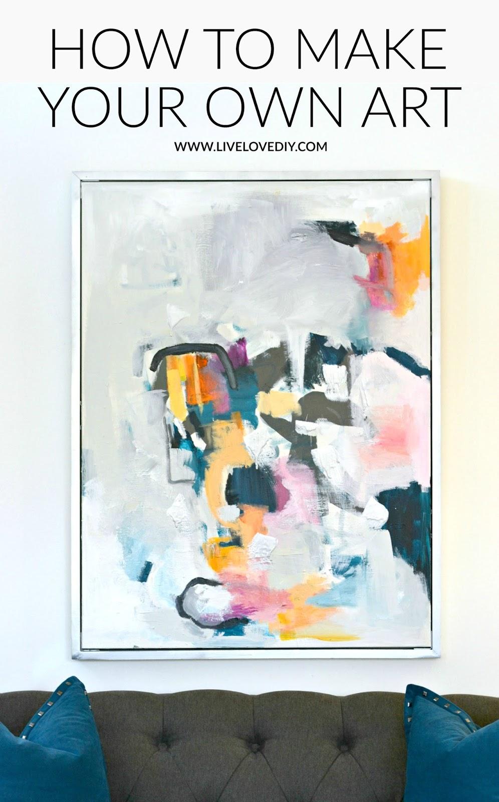 DIY Abstract Wall Art | LiveLoveDIY | Bloglovin'