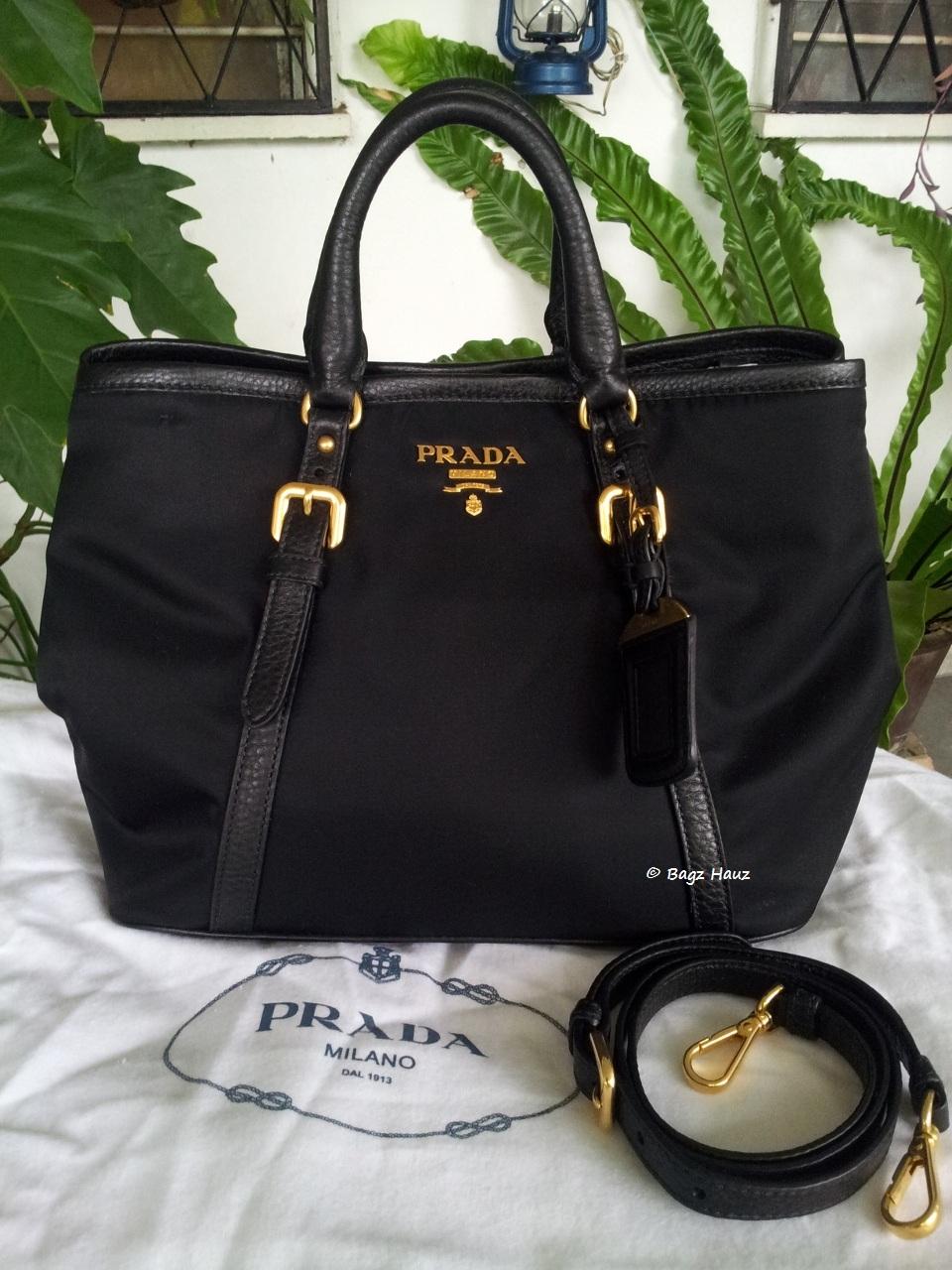 c6c06c75f5e139 ... uk pastime prada bag bn1841 . prada bn1841 tessuto nylon tote in black  881f4 844cc ...