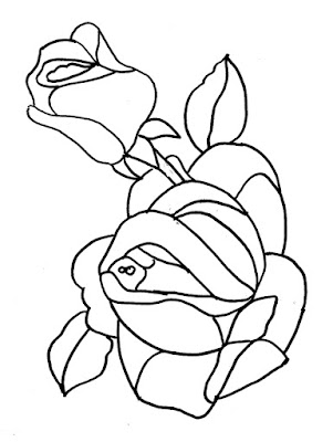 downloadable rose drawing