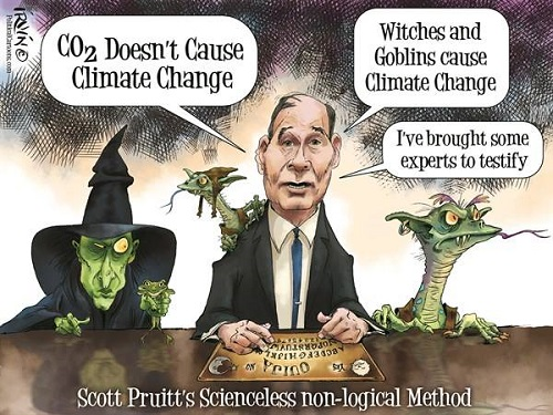 Toon of the Week: CO2 Doesn't Cause Climate Change / Witches and Goblins cause Climate Change