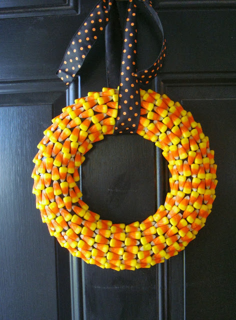 diy easy project for candy corn wreath