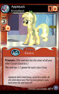 My Little Pony Applejack, Crystallized The Crystal Games CCG Card
