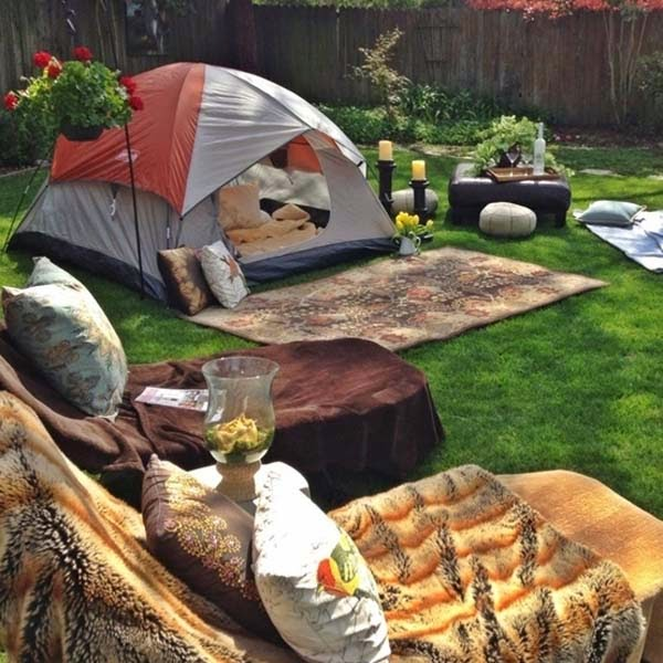 13.) Go camping in the back yard using some tents and pillows. - These 29 Do-It-Yourself Backyard Ideas For Summer Are Totally Awesome. Definitely Doing #10!