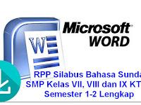 RPP Silabus Bahasa Sunda SMP Kelas VII, VIII dan IX KTSP Semester 1-2 Lengkap