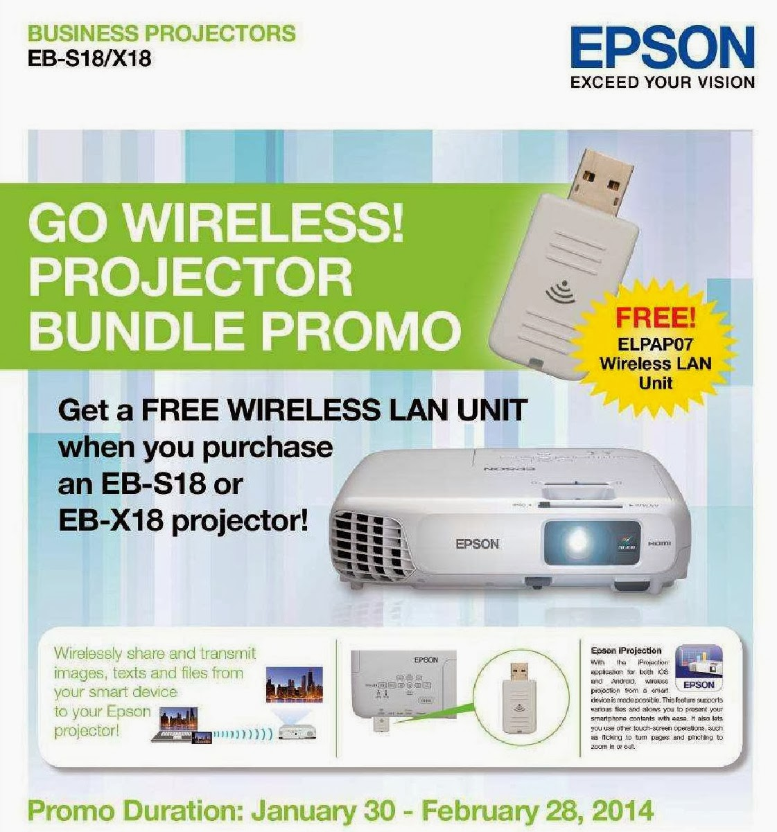 Epson Go Wireless! Projector Bundle Promo