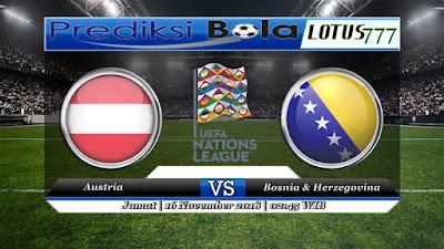 Prediksi pertandingan Austria vs Bosnia & Herzegovina 16 November 2018