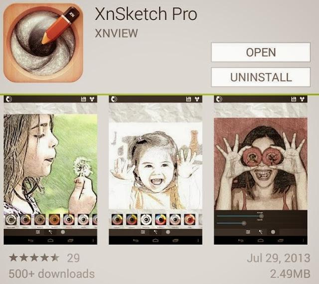 تحميل برنامج XnSketch 2016 لتحويل الصور الى صورة مرسومه بلقلم الرصاص بأخر تحديثات
