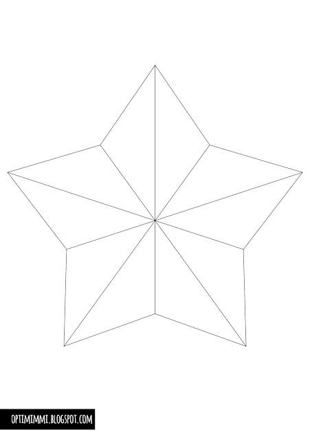 OPTIMIMMI: A blinking star (a coloring page) / Välkkyvä