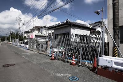 富岡町の住宅地の様子