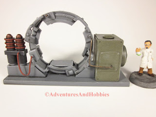 Trans Time Portal experimental 25-28mm scale lab device - rear view.