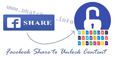 Nút chia sẽ Facebook để mở khóa nội dung Ẩn bằng cách sử dụng jQuery và Facebook API