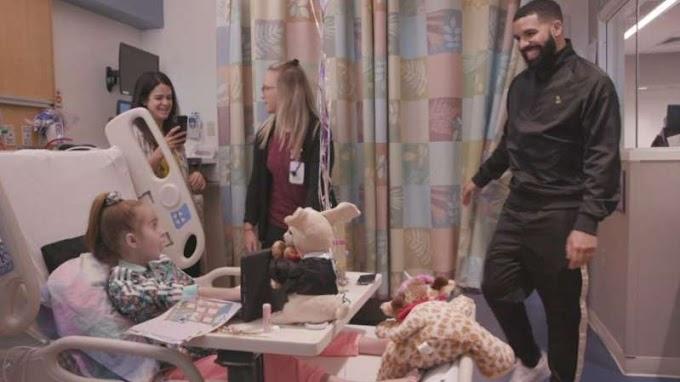 Watch: Drake surprises little girl awaiting heart transplant at hospital