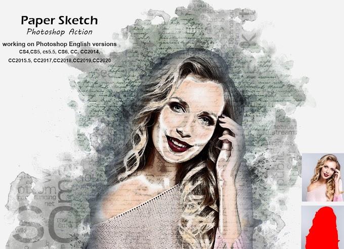 Paper Sketch Photoshop Action 5253996