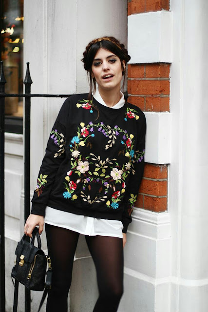 Lovely floral print sweater