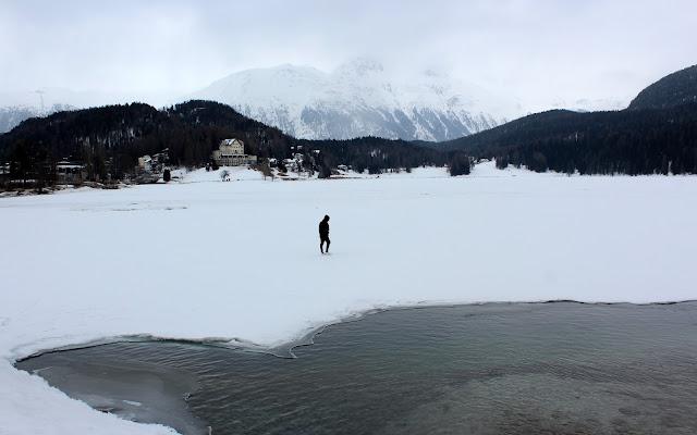 Lago de St. Moritz helado