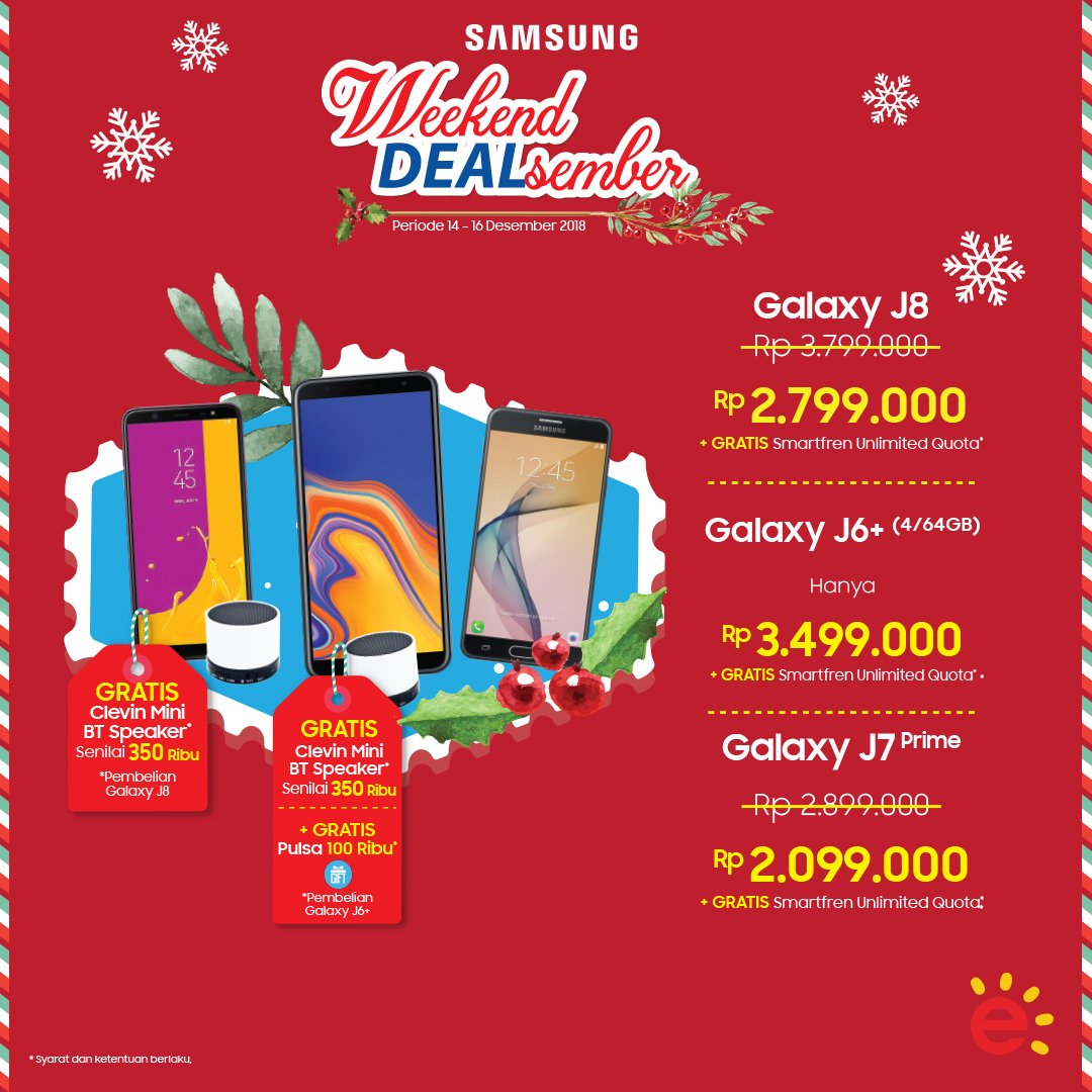 Erafone - Promo Samsung Weekend Dealsember (s.d 16 Des 2018)