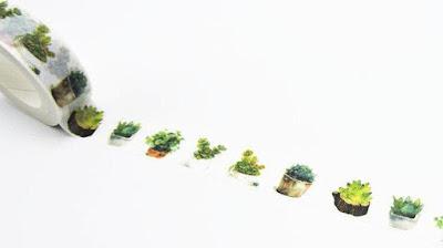 Succulent Cactus Washi Tape