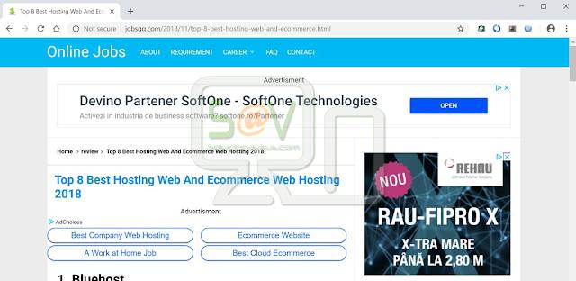 Jobsgg.com pop-ups