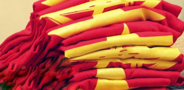Chất liệu áo thun cờ đỏ sao vàng